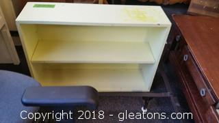 Vintage 2 Tiered Butter Yellow Shelf