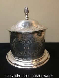 International Silver Co. Silver Plated Canister Lid Floral Design