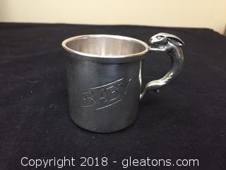Weidlich Brass Silver Plated Baby Cup