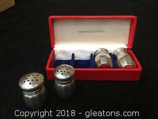 Worcester Pewter 730 Empire Mini S/P Shakers Finely crafted Made In USA