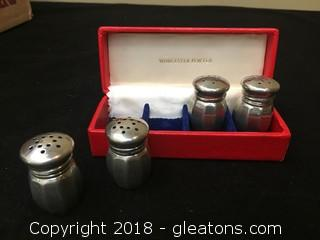 Wprcester Pewter 730 Empire Mini S/P Shakers Finely crafted Made In USA