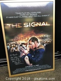 "Anessa Ramsey Signed Framed Poster Of ""The Signal"" Movie"