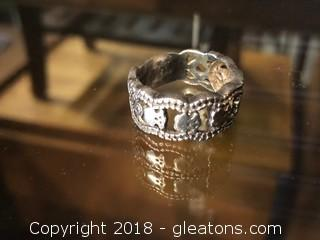 Stamped 925 6.85 Grams Size 8½ Rings