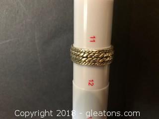 Men's Ring Stamped 925 8.04 Grams Size 11½