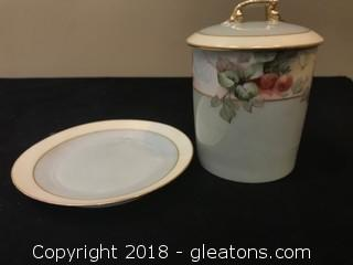 """Limoges Canister 6"""" Making Plate"""