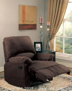 Recliners Microfiber Upholstered Glider Recliner