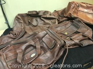 Real Leather Vintage Travel Bags Lot