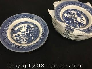 Set Of 8 Johnson & Sons Dinner Plates