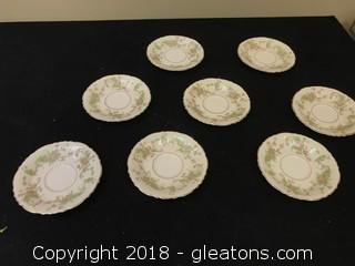 Set Of Federal Shape Mini Plates x8