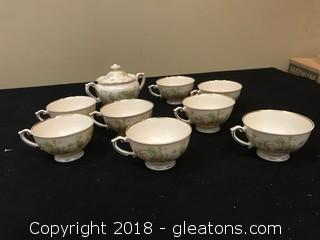 Lot Of Federal Shape Tea Set