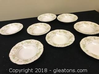 Lot Of Federal Shape Plate Bowls x8