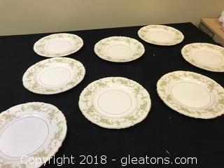 Set Of 8 Federal Shape Dinner Plates