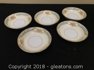 Noritake China Set Of 5 Starter Bowls
