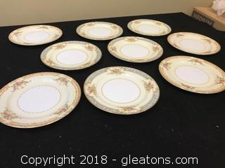 Noritake China Set Of 9 Salad Plates