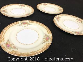 Noritake China Set Of Mini Food Plates