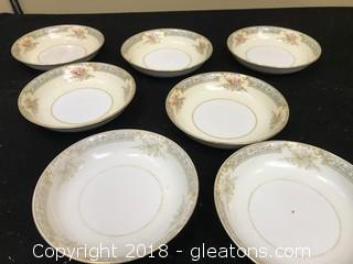 Set Of 7 Noritake Bowls
