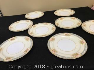 Noritake Dinner Plates x8