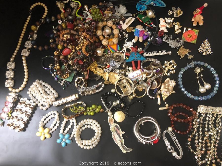 Treasure Trove Of Costume Jewelry Lot B