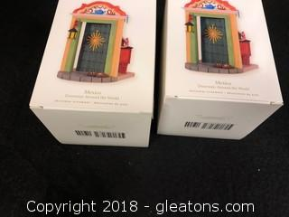 Pair Of 'Mexico' Hallmark Christmas Ornaments