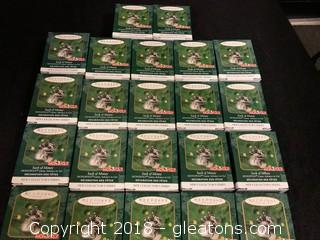 Lot Of 'Sack Of Money' Hallmark Mini Ornaments
