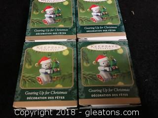 'Gearing Up For Christmas' Hallmark Mini Ornament Lot