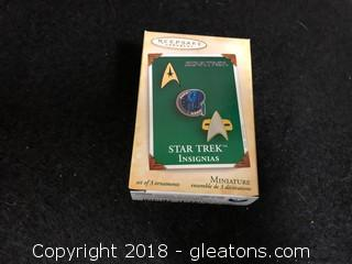 'Star Trek Insignias' Hallmark Mini Ornament