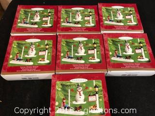 "Lot Of ""Victorian Christmas Memories"" Hallmark Ornaments"