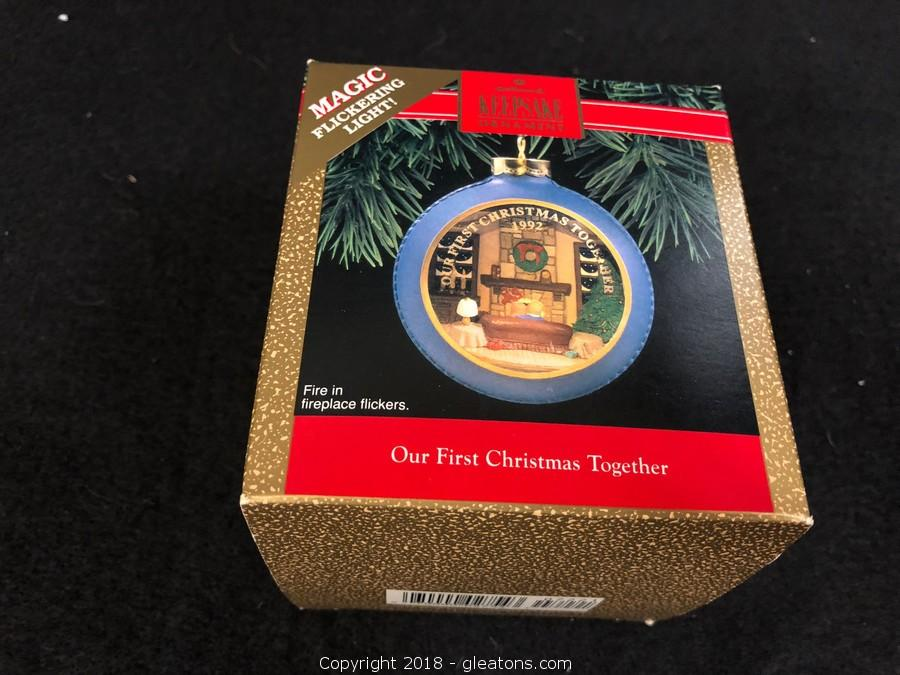 Hallmark Our First Christmas Ornament.Gleaton S The Marketplace Auction Massive Collection Of