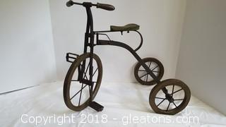 Vintage Metal Table Top Tricycle