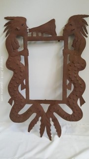 Hand Forged Metal Wall Art (Frame) Signed