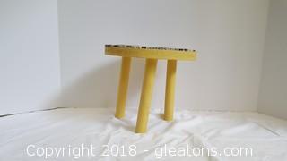 Handmade Mosiac Tile Wood Stool