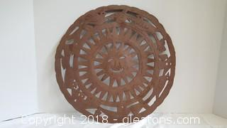 Hand Forged Metal Medallion Wall Art