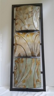 Metal Wall Decor Brushed Gold/Silver/Black