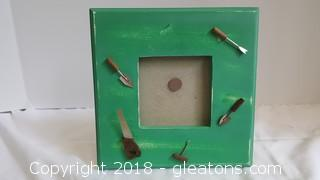 Crafty Wood Hand Picture Frame Painted 3x3 Opening