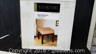 Global Distinctions 4 Leg Wooden Bench (New)