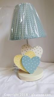 """Table Top (New In Box) Lamp Lemon Drop 16"""""""