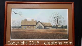 Signed Prink By: Jim Harrison Wood Frame Old Dutch Cleaner