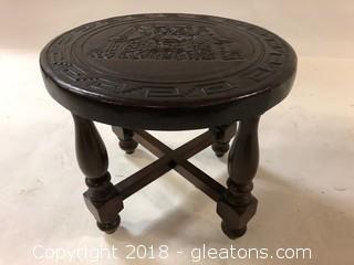 Imported Vintage Oriental Low Sitting Stool LOT B