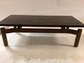 Lovely Rosewood Styled Coffee Table-Heavy Gorgeous Legs