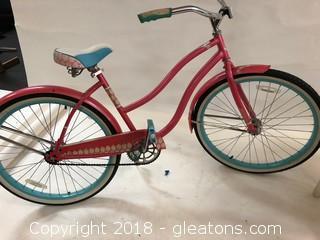 Beach Cruiser Girls Bike- Wide Seat Huffy Bike