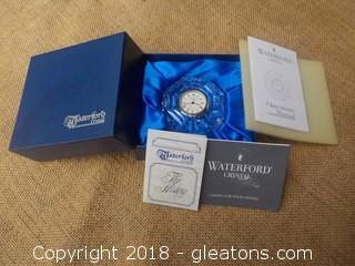 Waterford Crystal Desk/Shelf Clock