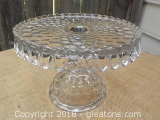Fostoria American Cake Pan with Rum Well