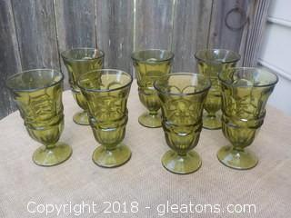 Fostoria Argus Footed Green Goblets