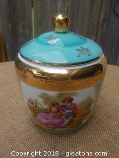 G.L. Limoges France Biscuit - Cracker Jar