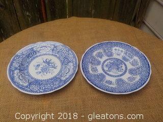 Spode Blue Room 2 Plates