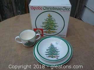 Spode Christmas Child's Set in Original Box
