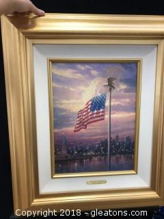 Thomas Kincaid The Light Of Freedom With Cert. Of Auth.