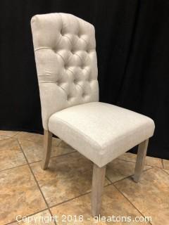 Linen Tufted Modern Dining Chair (A)