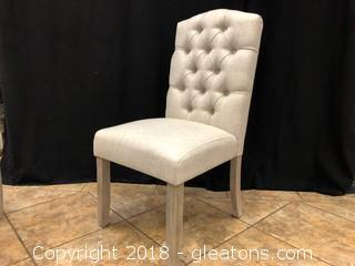 Linen Tufted Modern Dining Chair (C)