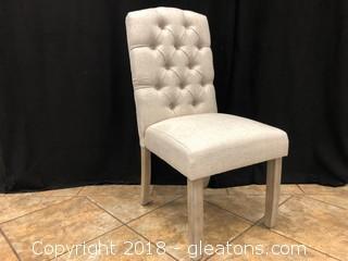 Linen Tufted Modern Dining Chair (D)